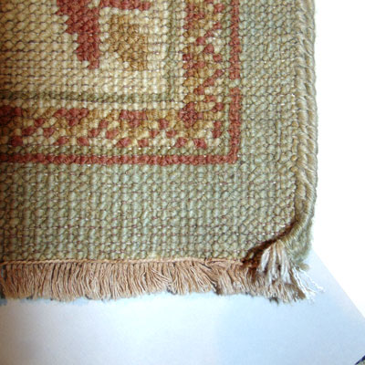 Hand-knotted rug with coarser knots